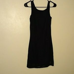 Black silver sparkle dress. Size m